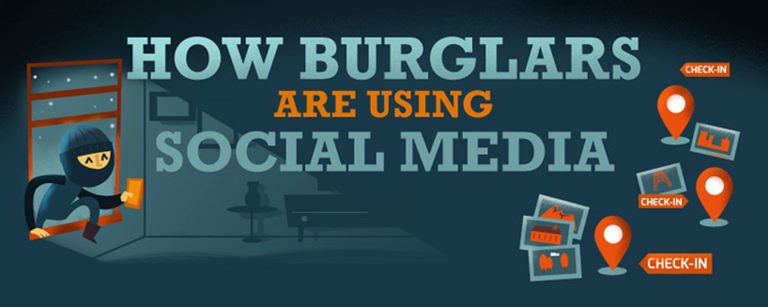 how burglars use social media