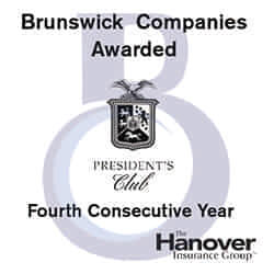 Brunswick Companies Awarded 4th Hanover President's Club