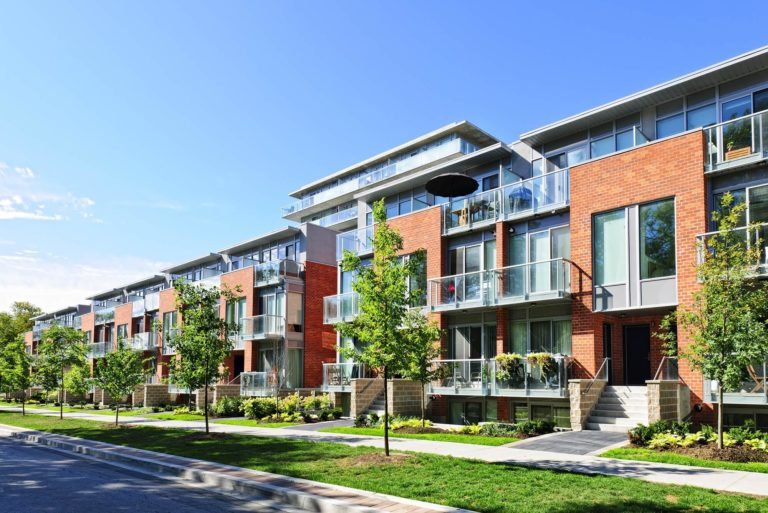 Row of Apartments with Renters Insurance